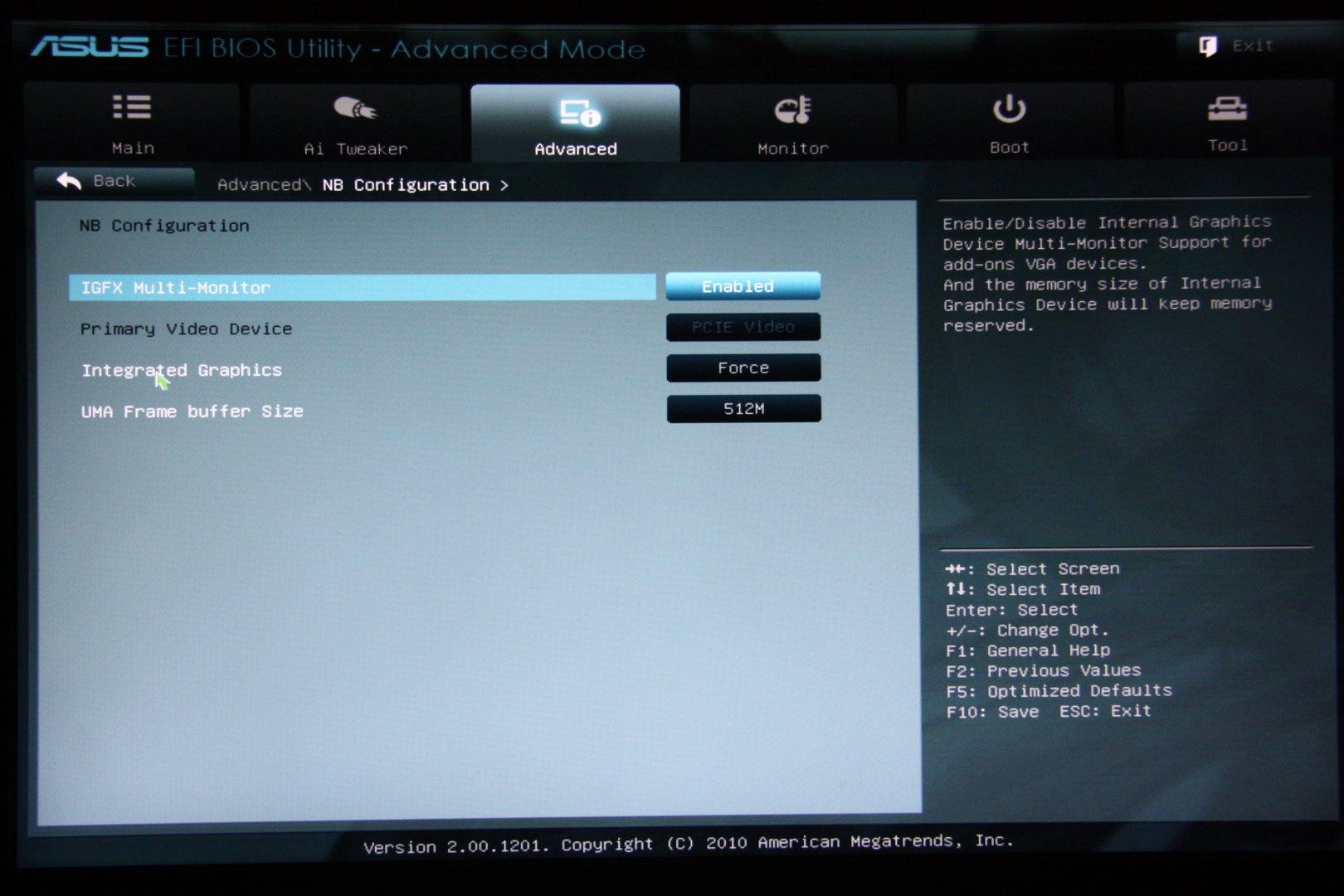 Asus E35M1-M Pro – UEFI