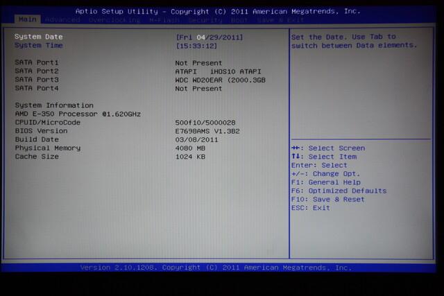 MSI E350IA-E45 – BIOS