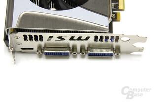 GeForce GTX 560 Twin Frozr II OC Anschlüsse