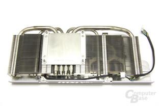GeForce GTX 560 Twin Frozr II OC Kühlerrückseite