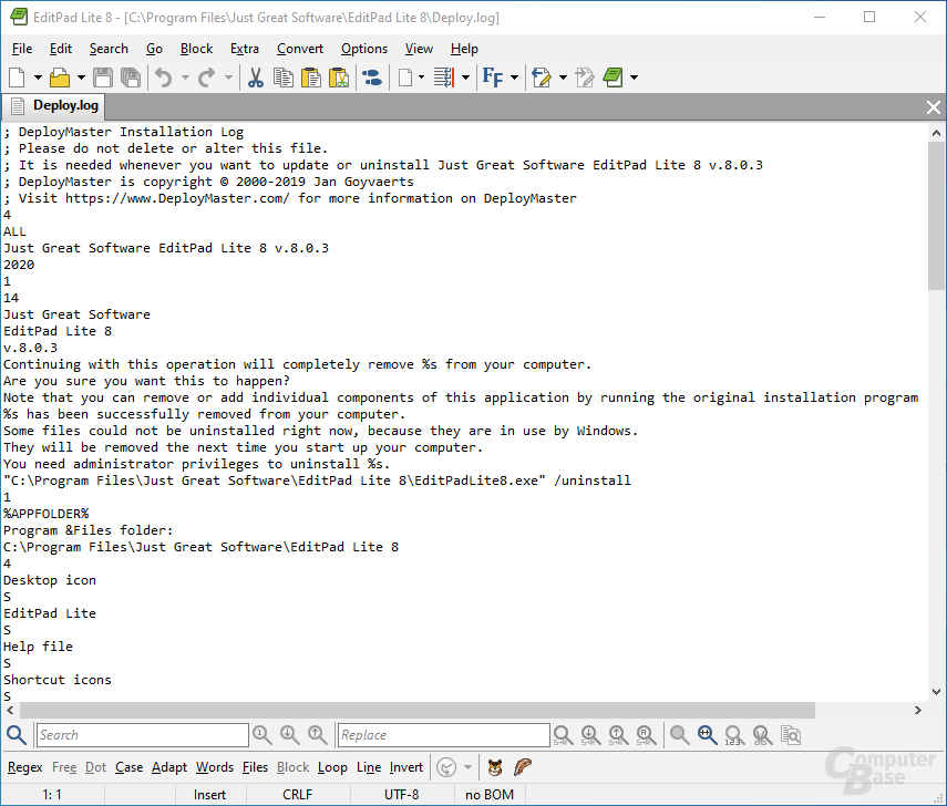 EditPad Lite – Text Editor for Windows