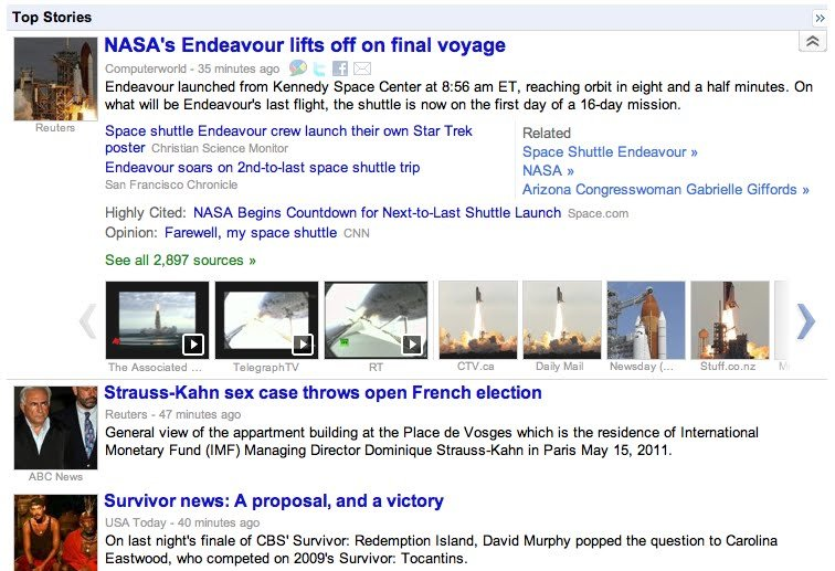 Google News: Neue Startseite