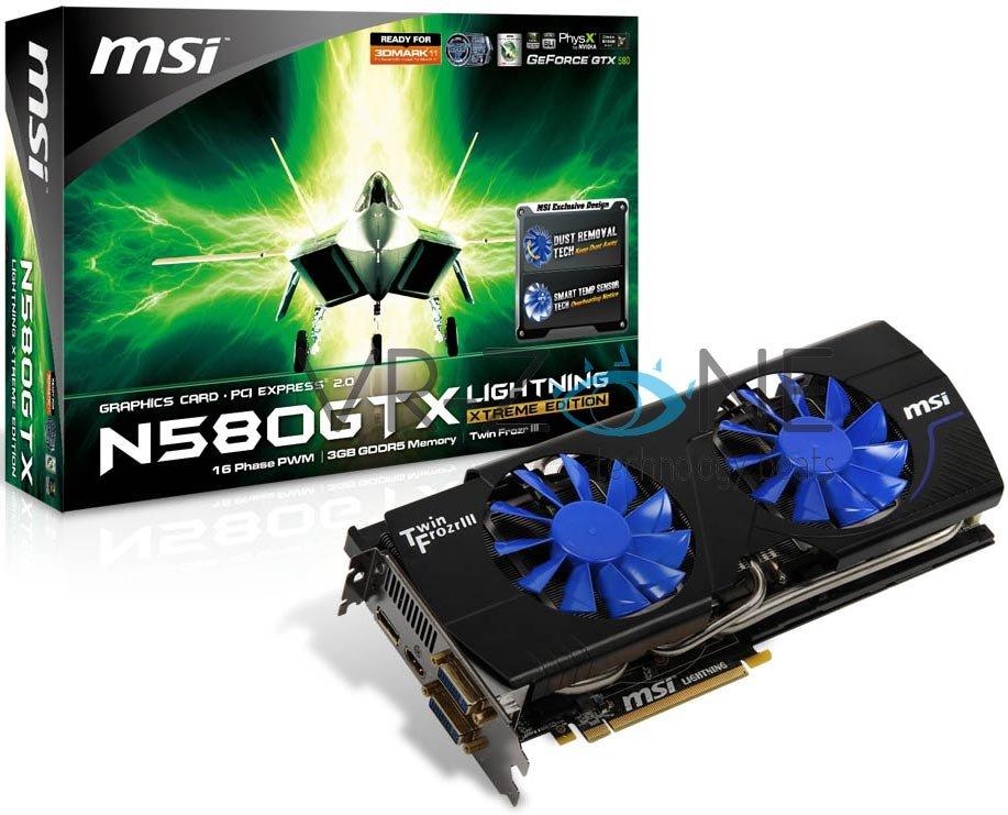 MSI N580GTX Lightning Xtreme Edition