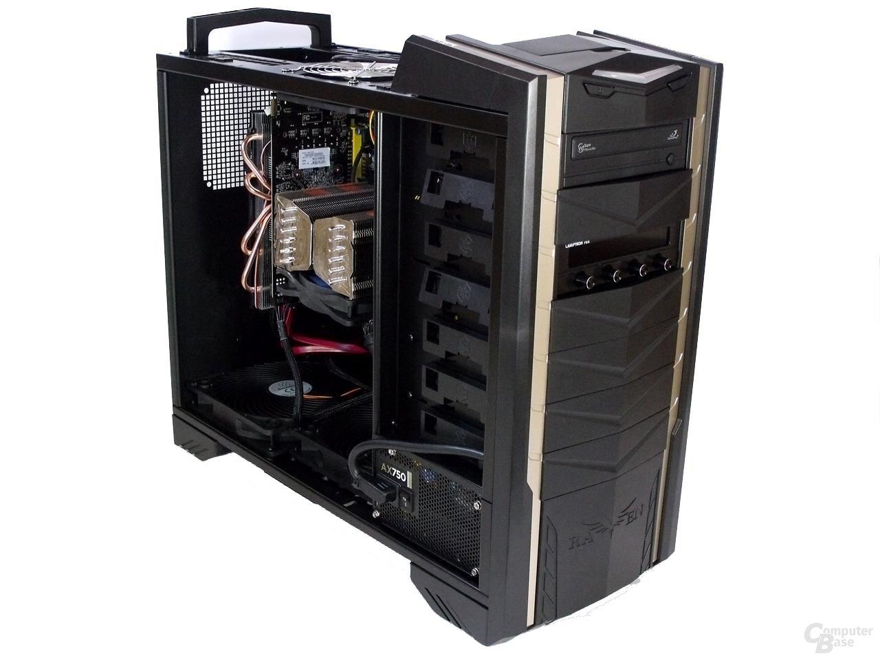 SilverStone Raven 3 – Innenraum mit Hardware