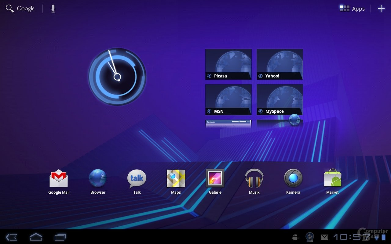 Android 3.0: Homescreen