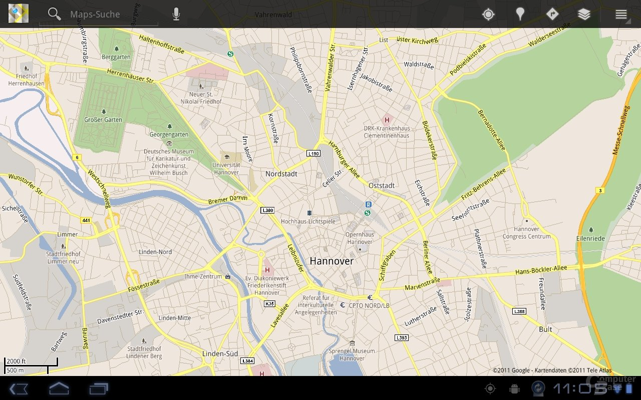 Android 3.0: Google Maps