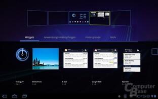 Android 3.0: Homescreen anpassen