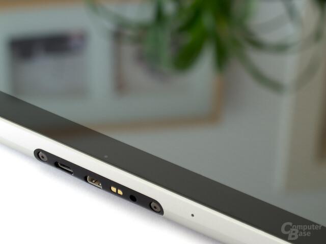 Die wichtigsten Anschlüsse: USB, HDMI und Strom