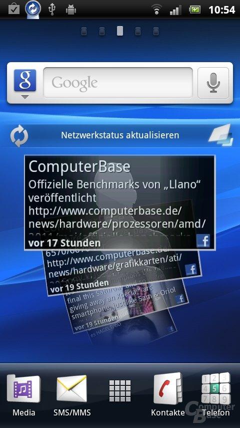 Sony Ericsson UX: Timescape