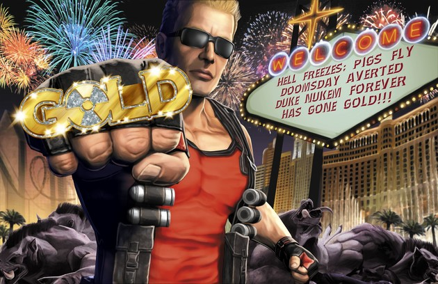 "Duke Nukem Forever ""has gone gold"""