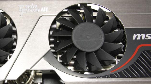 GTX 570 Twin Frozr III im Test: Zu laute MSI-Karte mit neuem Twin-Frozr-Kühler