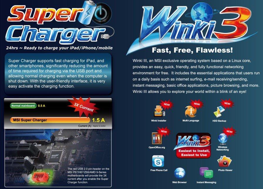 MSI SuperCharger & Winki 3