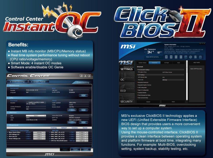 MSI Instant OC & Click BIOS II