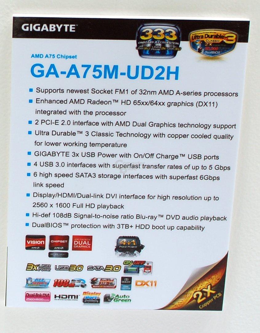 Gigabyte GA-A75M-UD2H