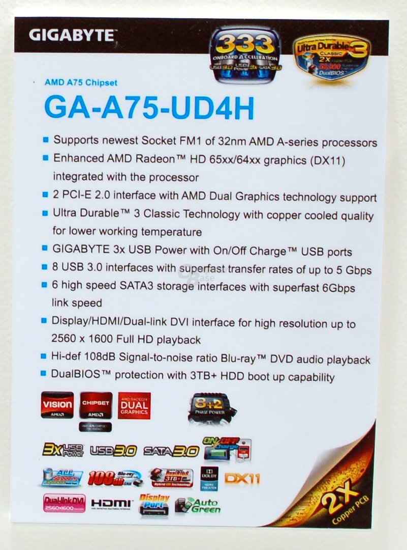 Gigabyte GA-A75M-UD4H