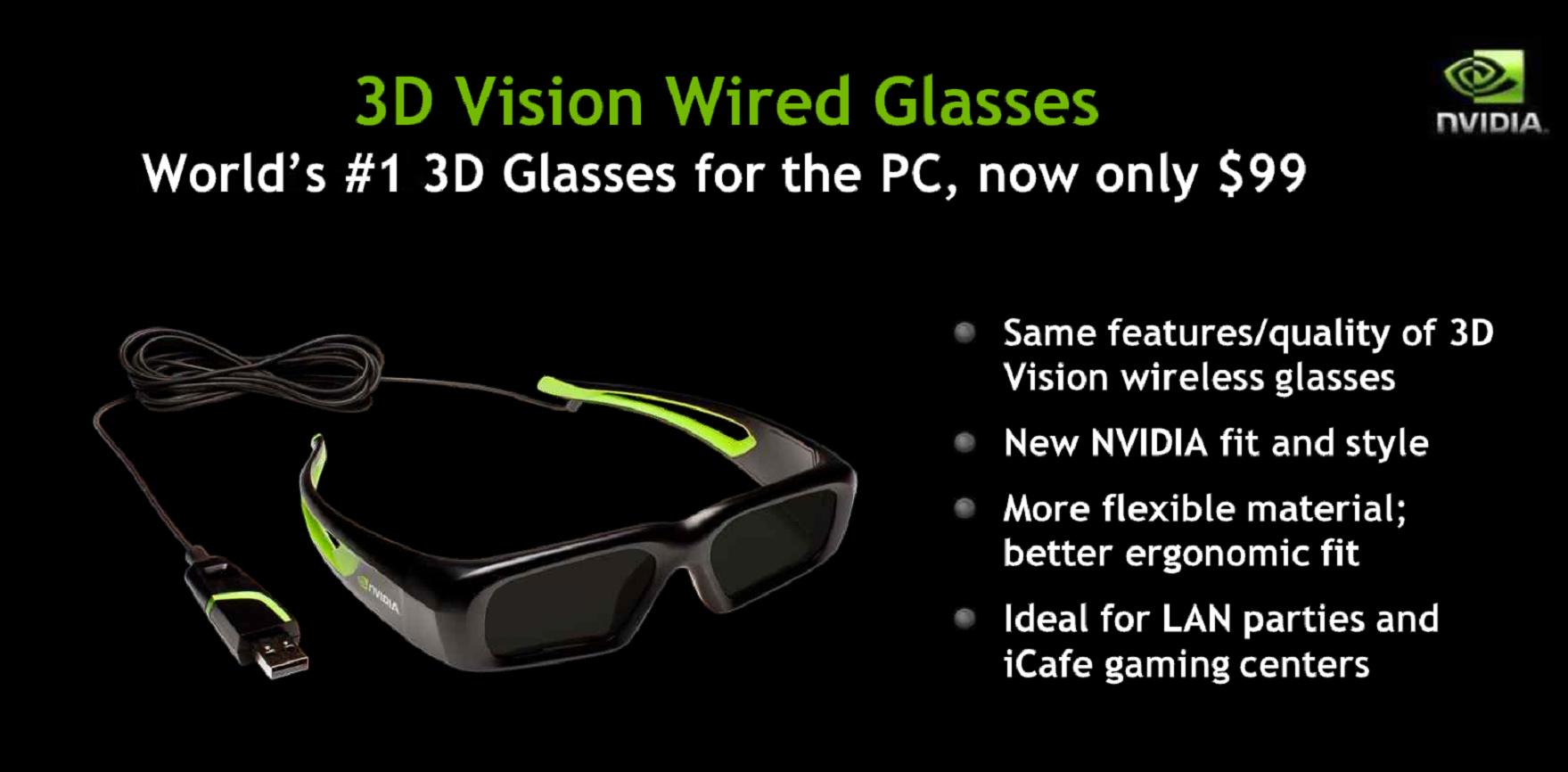 Nvidia 3D-Vision-Brille mit Kabel