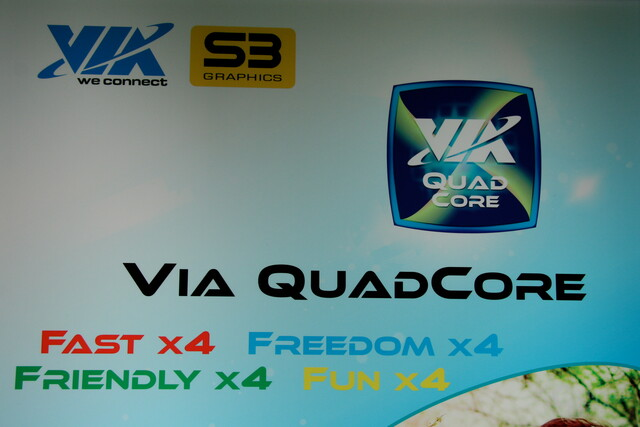 VIAs Quad-Core-Prozessor in Aktion