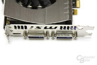 GeForce GTX 570 Twin Frozr II PE OC Anschlüsse