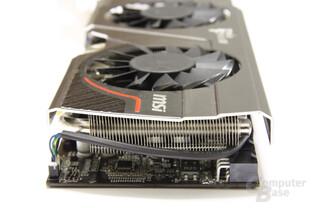 GeForce GTX 570 Twin Frozr II PE OC von hinten