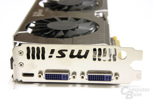 GeForce GTX 570 Twin Frozr II PE OC Slotblech