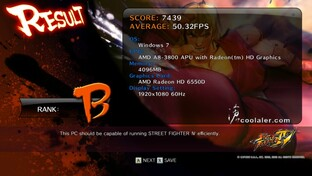 A8-3800 in Streetfighter 4