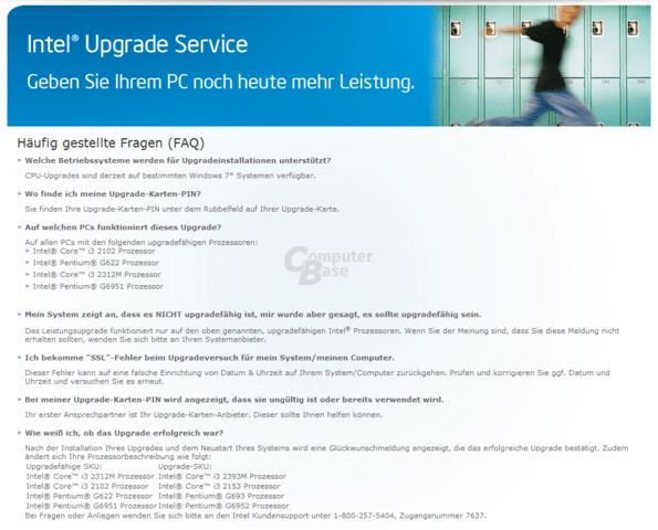 Intel Upgrade auch für Core i3