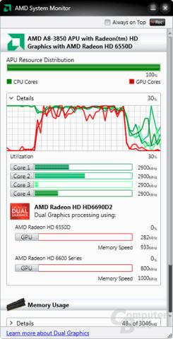 Radeon HD 6550D + HD 6670