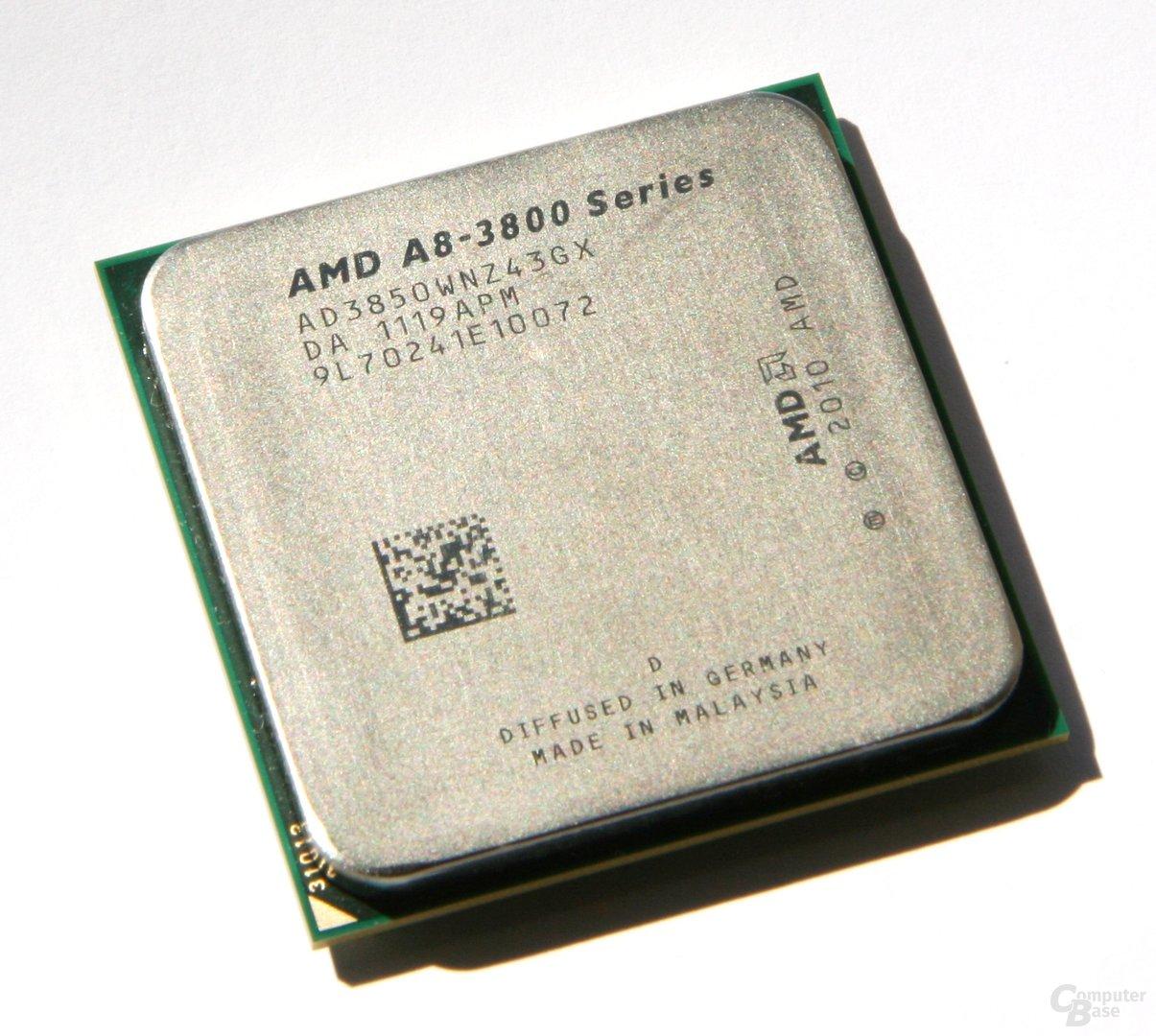 AMD A8-3850 – Oberseite