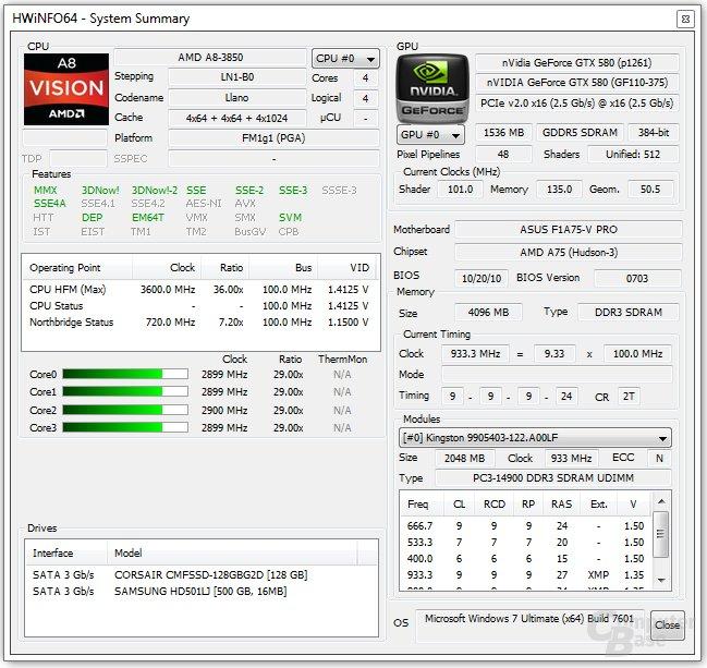 AMD A8-3850 im Detail