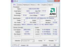 AMD A8-3850 in CPU-Z