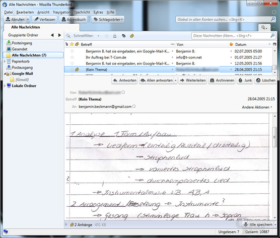 Mozilla Thunderbird 5.0: Mail-Übersicht