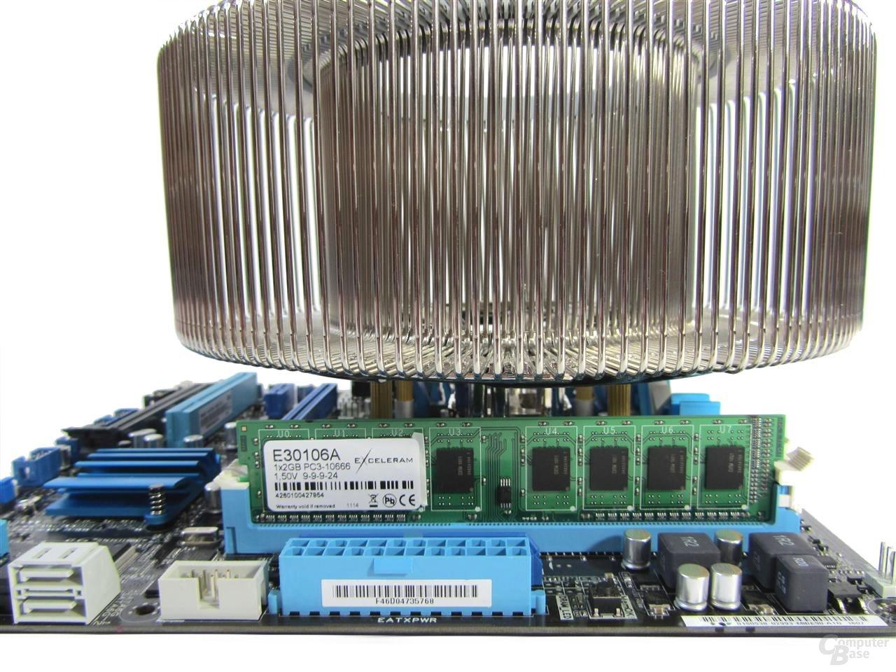 Nofan CR100A – Kompatibilität nur mit Standard-Speichermodulen