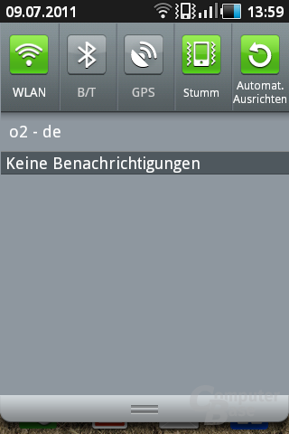 Screenshot Samsung Galaxy Ace