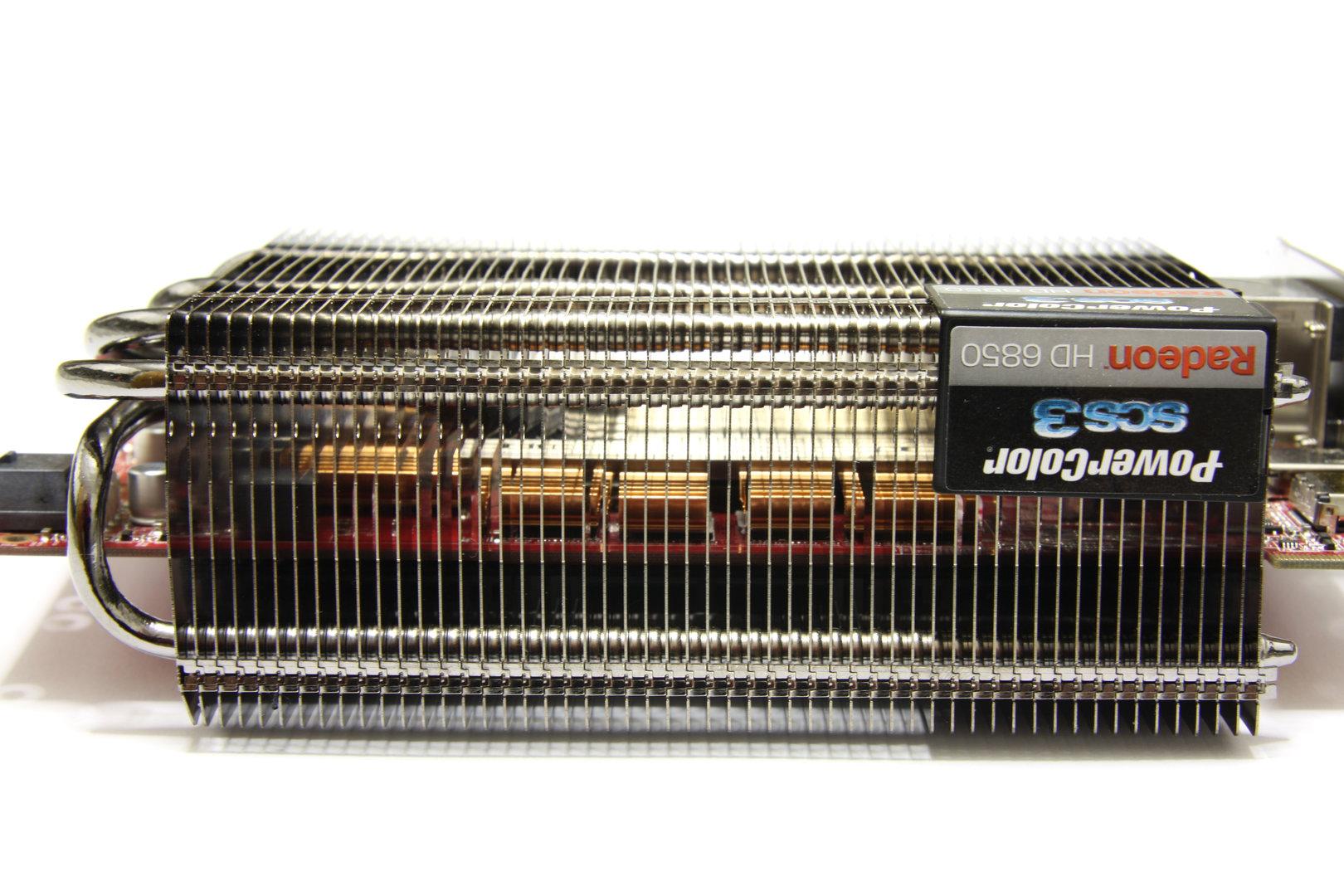 Radeon HD 6850 SCS3 Kühler Seitenansicht