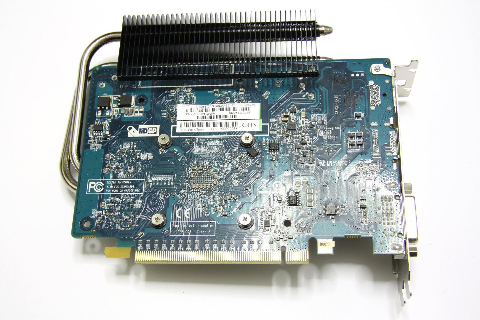 Radeon HD 6670 Ultimate Rückseite