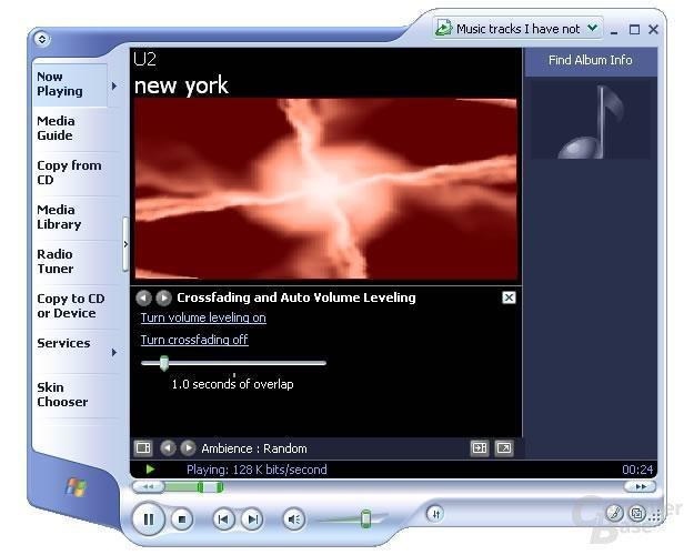 Media Player 9 unterstützt automatisches Fading
