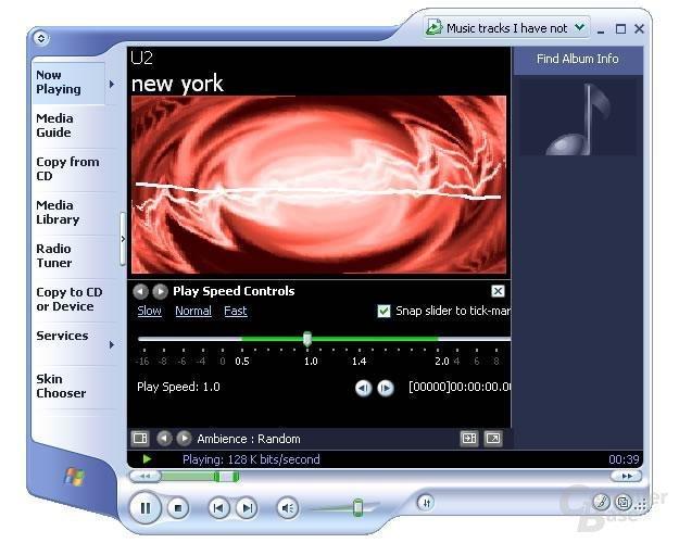 Media Player 9 bietet Fast-Forward