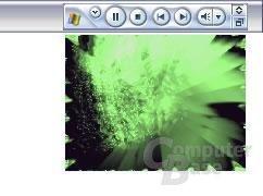 Media Player 9 im Taskleisten Modus und Visualization