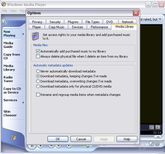 Media Player 9 legt besonderen Wert auf das verbesserte Media Library