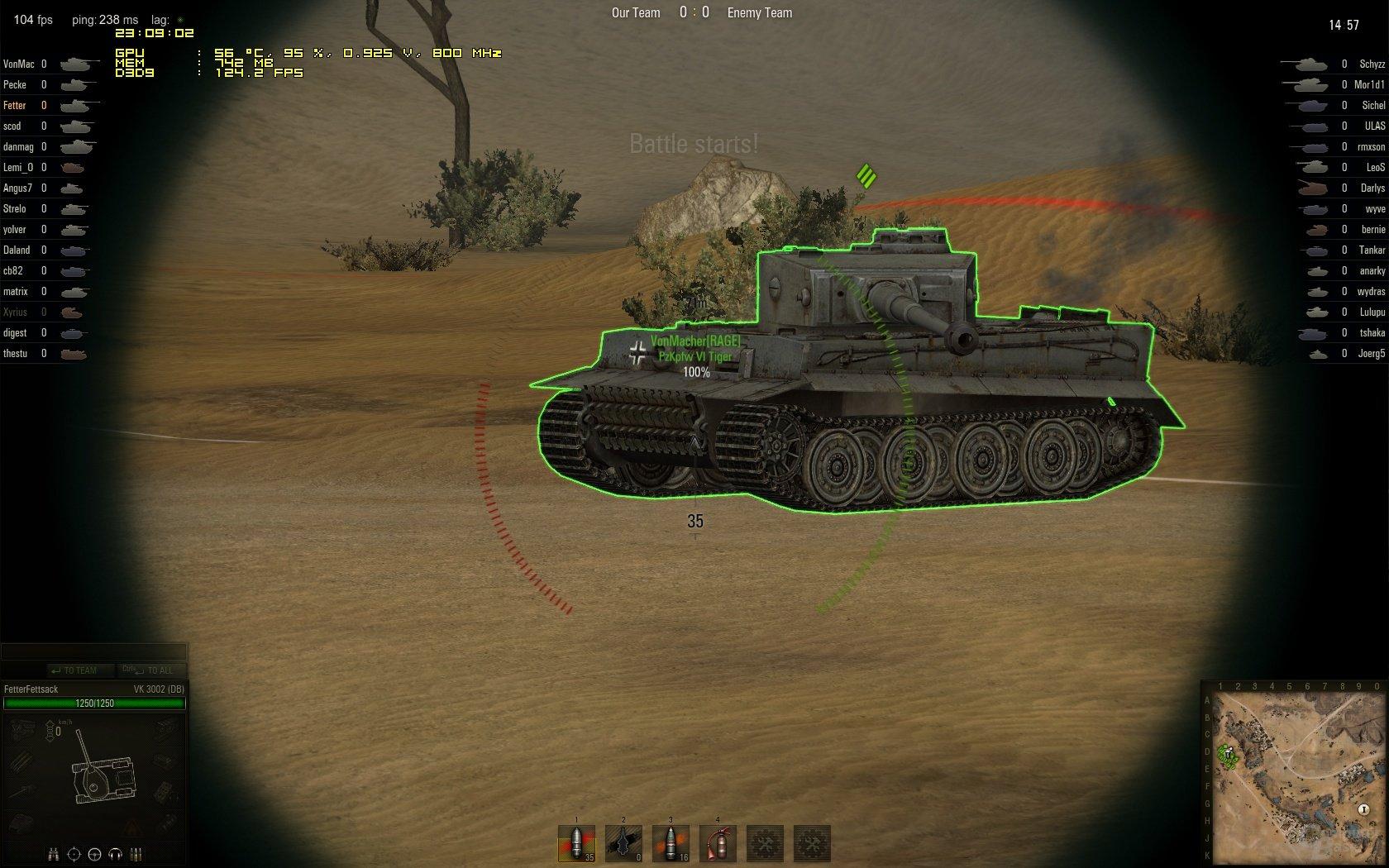 Welt der Panzer bevorzugt Matchmaking