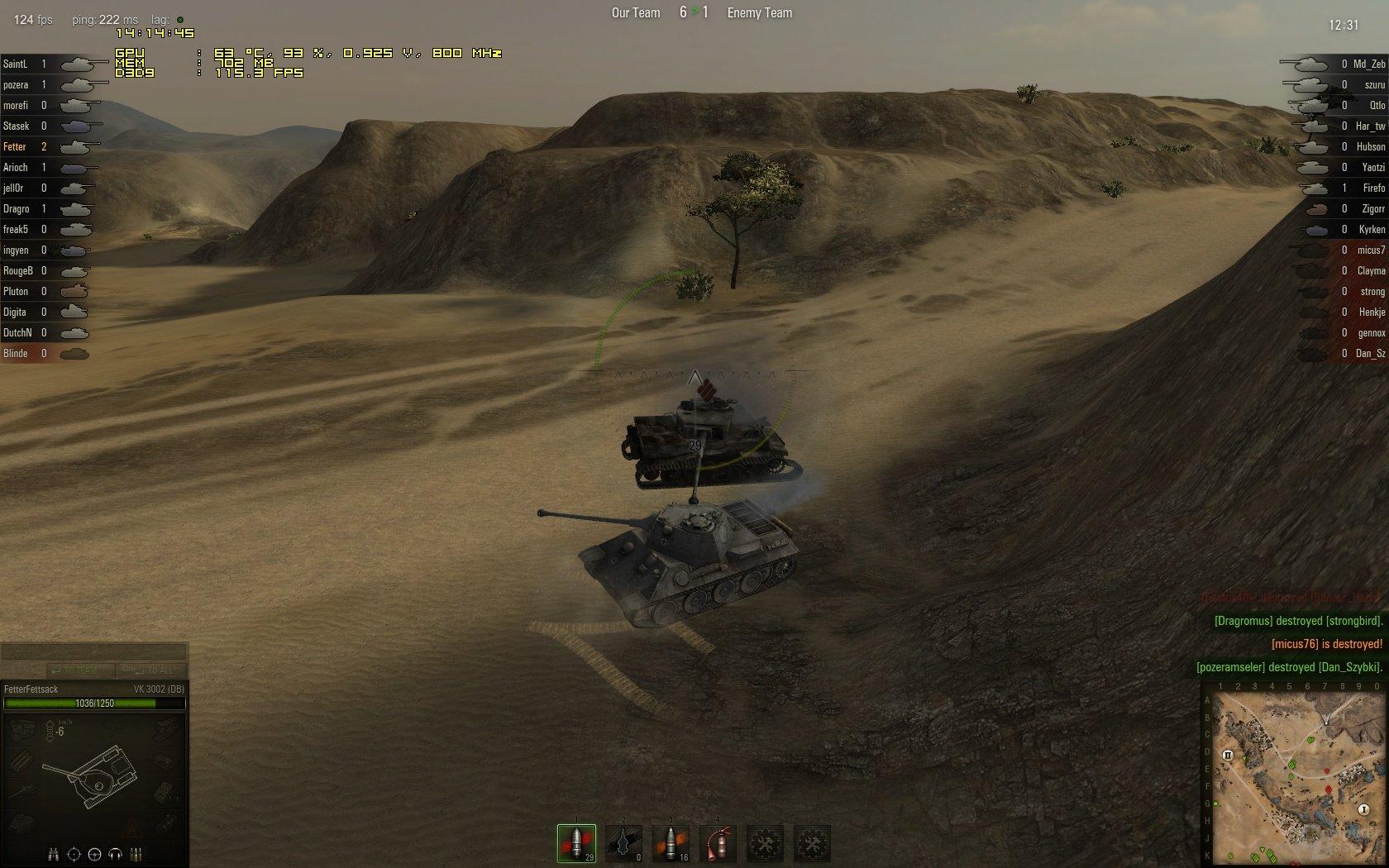 Welt der Panzer 8,9 Matchmaking