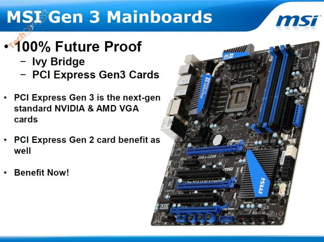 MSI-Boards mit PCI Express 3.0