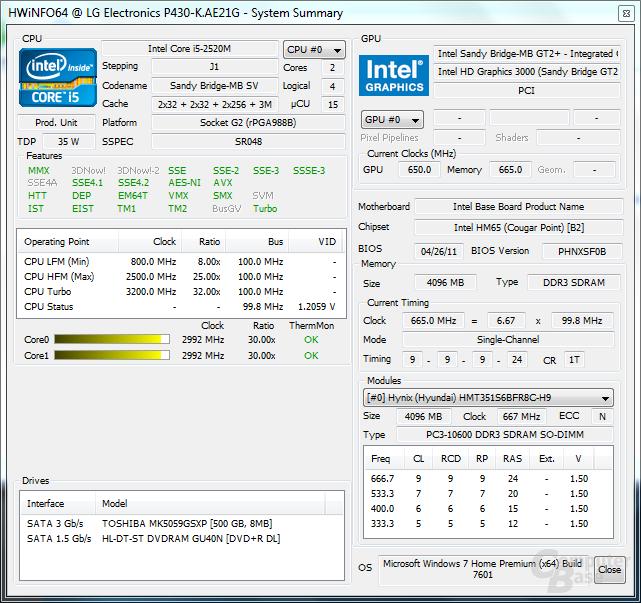 Hardware Info 64 - Last