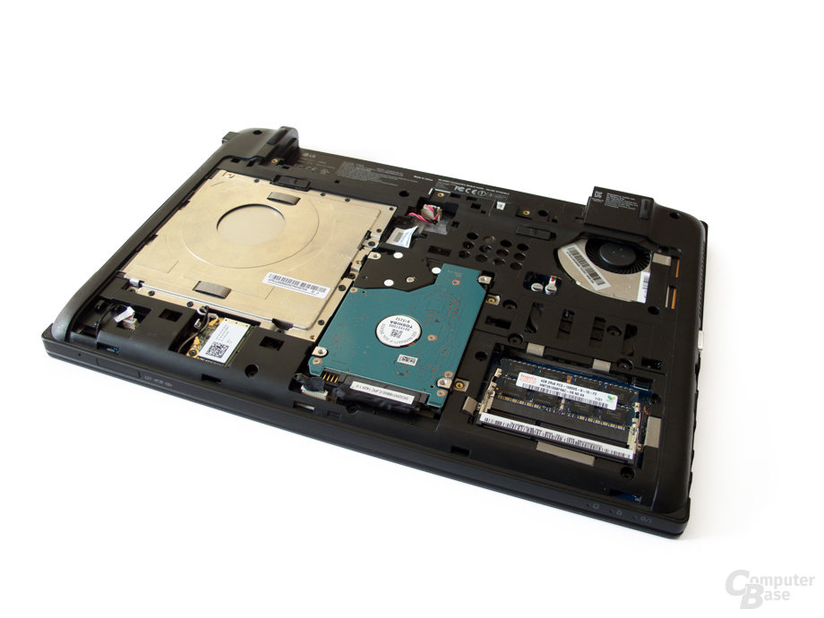 LG P430: Festplatte, Arbeitsspeicher, optisches Laufwerk