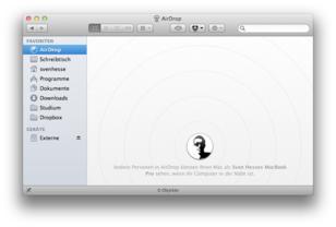 Mac OS X Lion – AirDrop