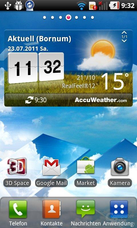 LG 3D UI: Homescreen