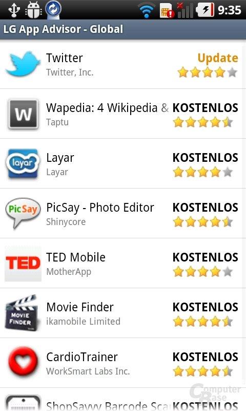 LG 3D UI: LG App Advisor