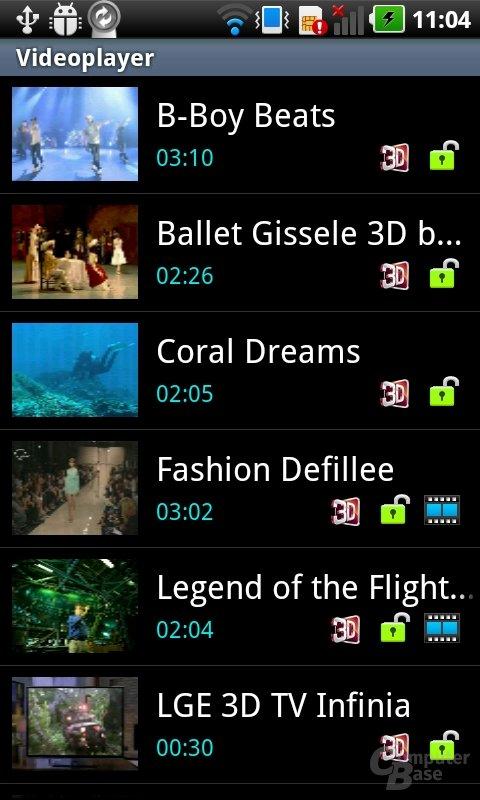 LG 3D UI: Video-Galerie