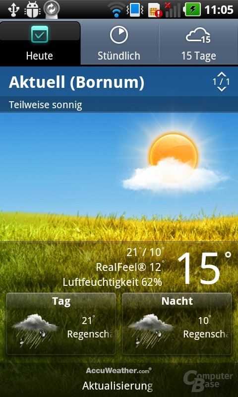LG 3D UI: Wetter-App