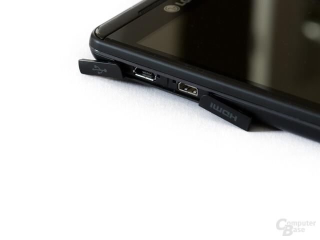 USB- und HDMI-Port liegen hinter Abdeckungen